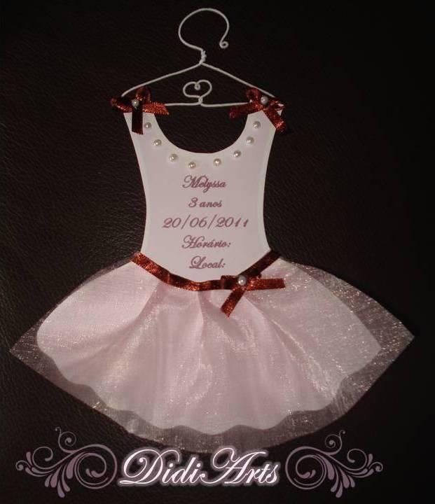 Convite De Chá De Bebê Bailarina 18 Modelos Modelos De Convite
