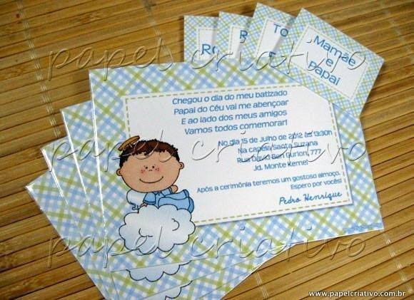 Convites de Batizado  de Anjinhos! 22 modelos!