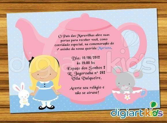 22 Modelos De Convites Da Alice No País Das Maravilhas Modelos De