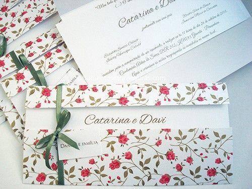 18 Convites  Inéditos de casamento floral!