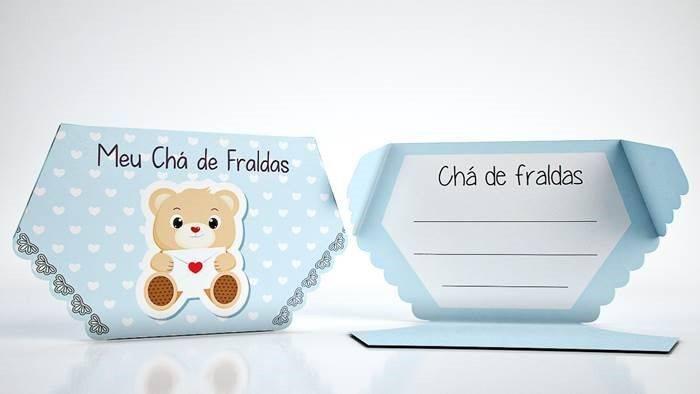 Muito Convites de Chá de Fralda para Editar – Modelos – Modelos de Convite TC08