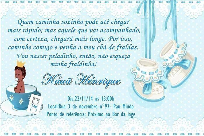 Mensagem De Convite De Cha De Fralda: Convites De Chá De Fralda Para Editar