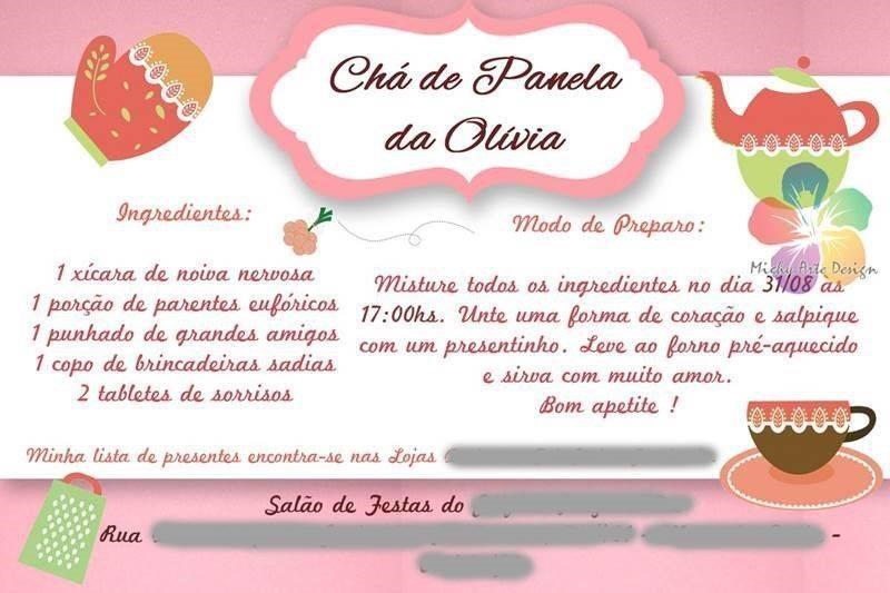 20 Convites Estilosos Para Chá De Panela Modelos De Convite