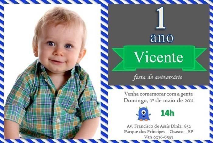 25 Convites Temáticos Para Aniversários De 1 Ano Modelos De Convite