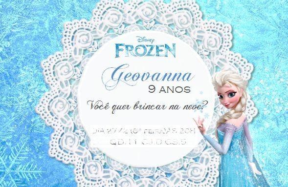 34 Convites Criativos da Frozen 301
