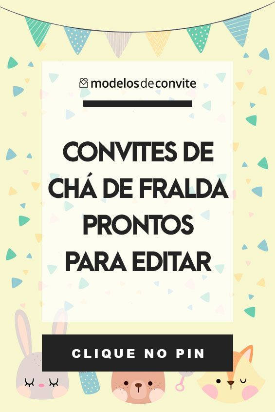 Convites De Cha De Fralda Para Editar Modelos Modelos De Convite