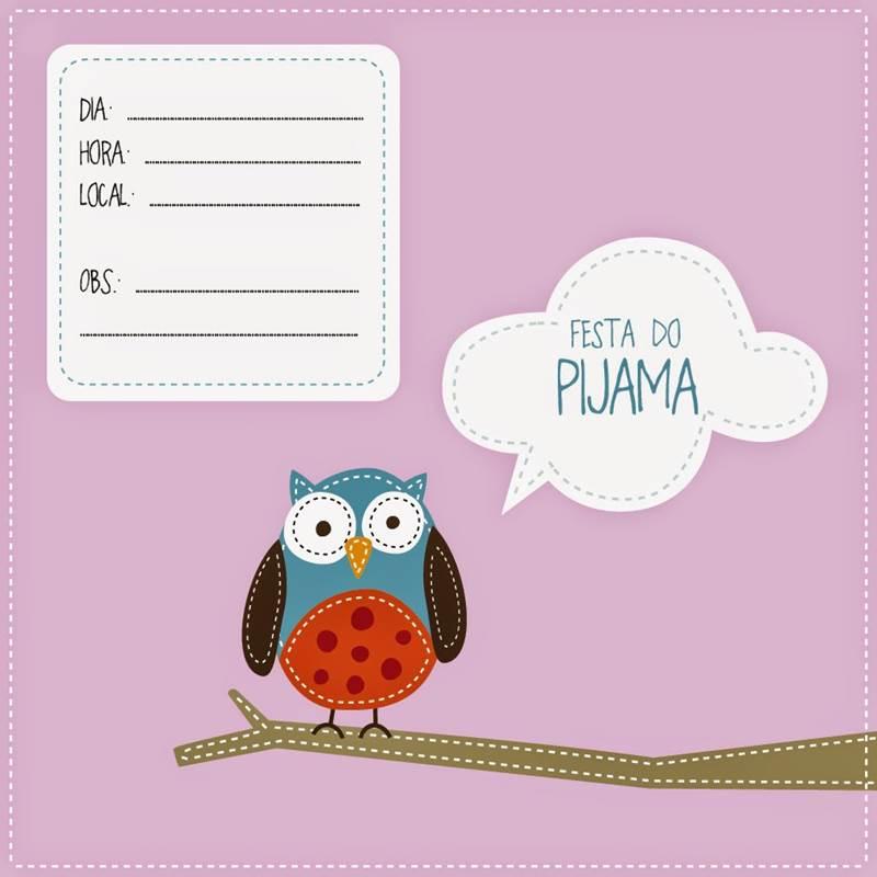 27 Convites Para Festa Do Pijama Modelos De Convite