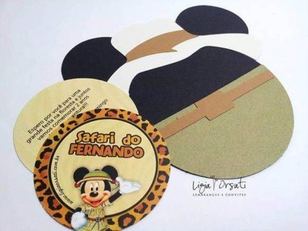 +20 Convites do Safari do Mickey – Inspire-se!