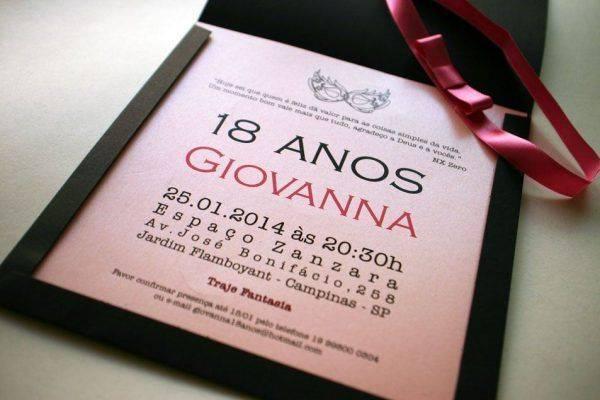 +25 Convites de Aniversário 18 Anos