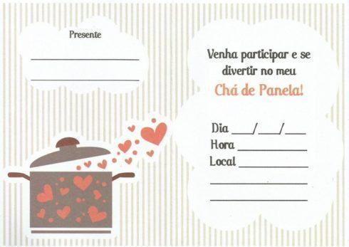 25 Convites para Chá de Panela ou Chá de Cozinha – Modelos ...