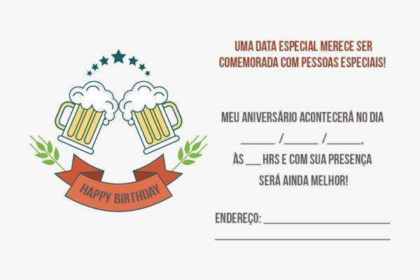 Convite de Aniversário Adulto