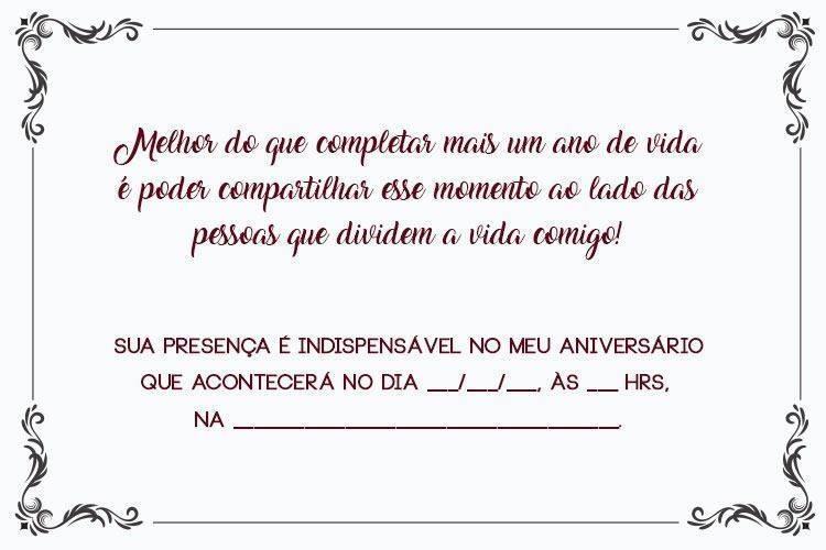 Convite De Aniversario Adulto 17 Modelos Ideais Modelos De Convite