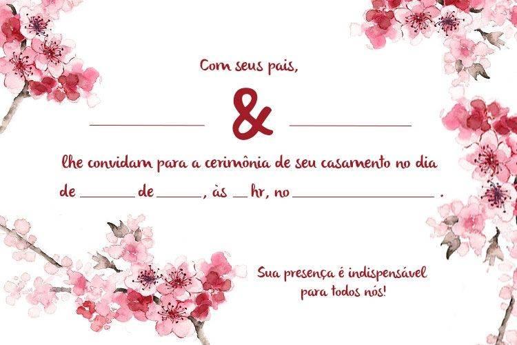 Quem não quer ter trabalho na hora de criar um modelo ou escolher um convite de casamento, pode recorrer a um método simples e mais barato: imprimir o convite de casamento!