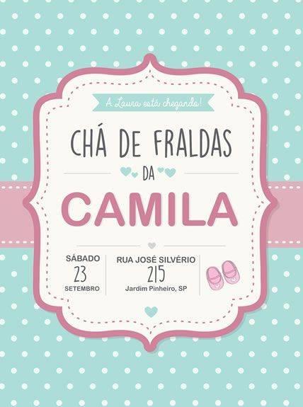 Convite Para Chá De Bebê Virtual Convite Chá De Fraldas Online