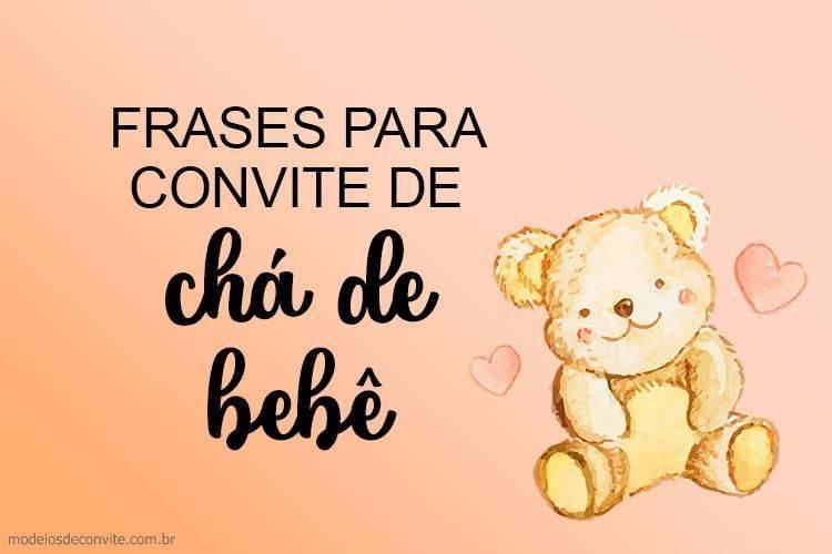 15 Frases Para Convite De Chá De Bebê Modelos De Convite