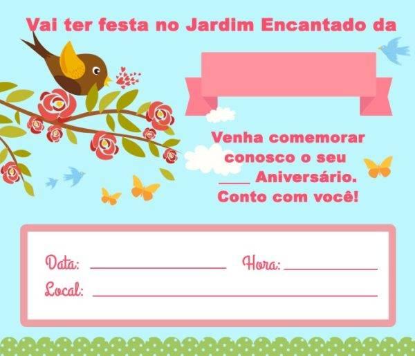 Convite Jardim Encantado – 15 Modelos
