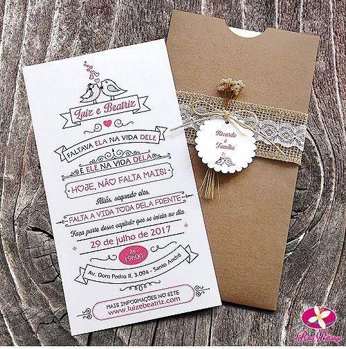 10 Convites De Casamento Rústico Modelos De Convite