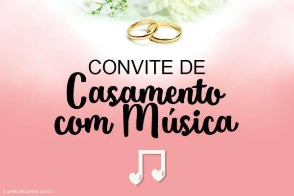 Convite de Casamento com Música – Frases de Amor!