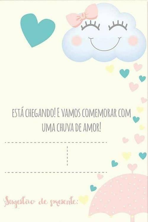 12 Convites De Chuva De Amor Para Imprimir Modelos De Convite