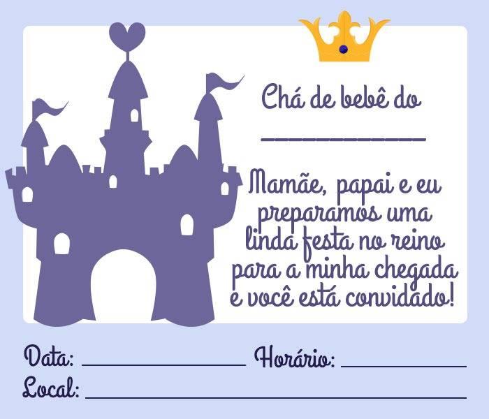Convite Cha De Bebe Principe 16 Modelos Especiais Modelos De
