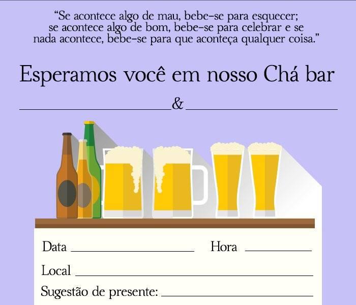 Convite Cha Bar 30 Modelos Editaveis E Para Se Inspirar