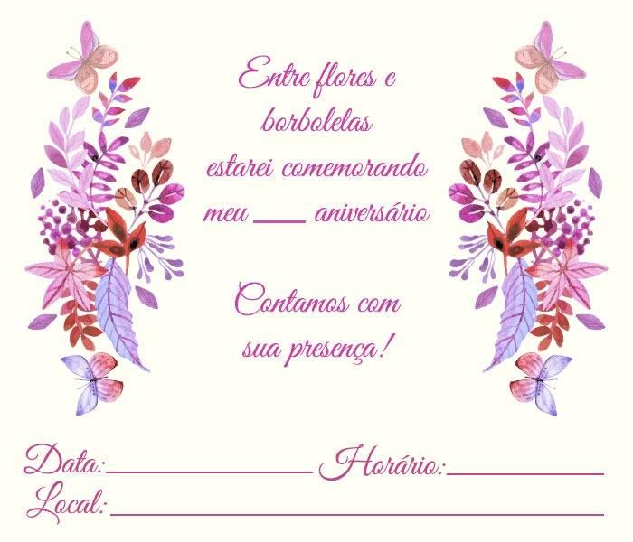 Convite Borboleta 15 Modelos Delicados Modelos De Convite