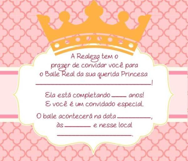 Convite Para Aniversário Das Princesas Disney Modelos De Convite