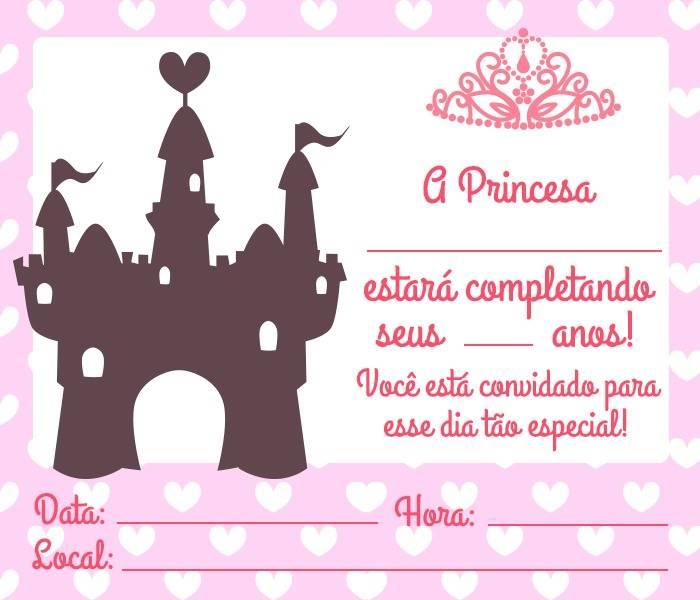 Convite Princesa 14 Modelos Encantadores Modelos De Convite