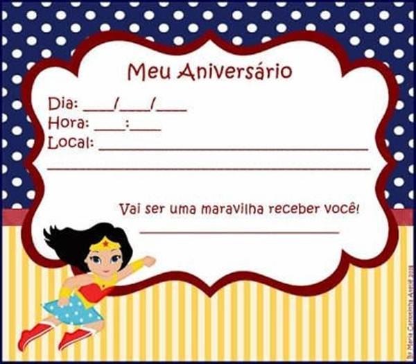 24 Convites Da Mulher Maravilha Surpreendentes E Originais