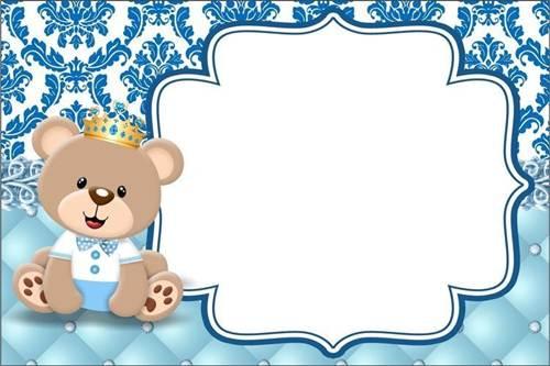 37 Convites Do Bebê Ursinho Para Se Encantar Modelos De Convite
