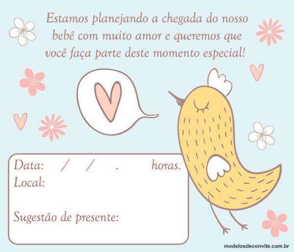 Convite para Chá de Bebê Virtual: +30 Convite Chá de Fraldas Online