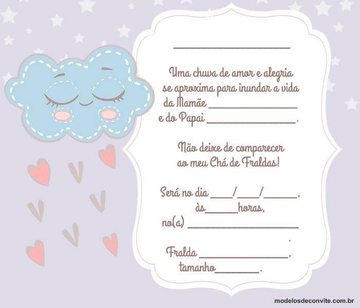 Convite Para Chá De Bebê Virtual 30 Convite Chá De Fraldas Online