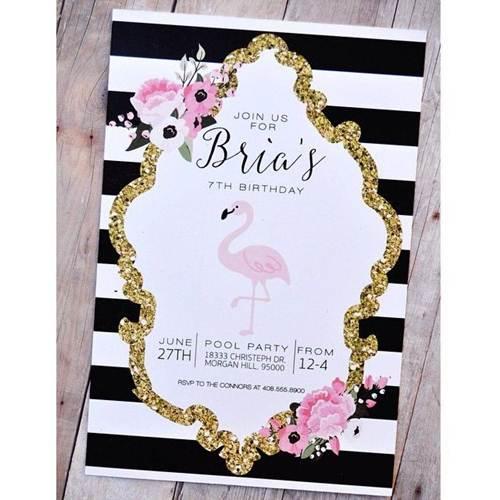 26 Convites De Flamingo Para Se Apaixonar Modelos De Convite