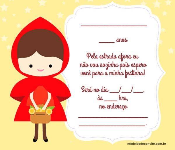 31 Convites da Chapeuzinho Vermelho que vão te Encantar!