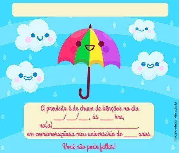 23 Convites de Chuva de Bênçãos para te Encantar!