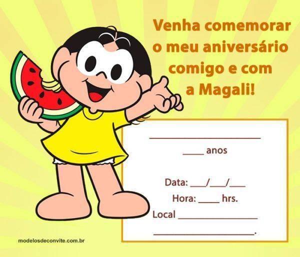 33 Convites da Magali para se Apaixonar!
