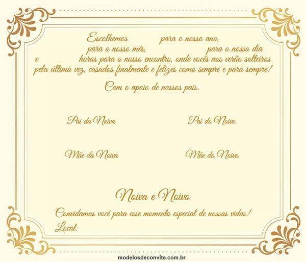 24 Convites de Casamento Clássico para se Emocionar