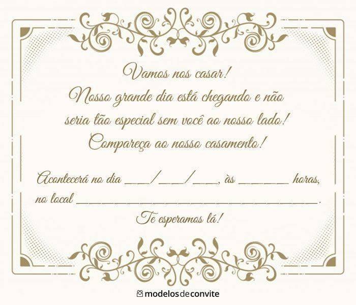 Convites De Casamento Para Imprimir Modelos Para Editar