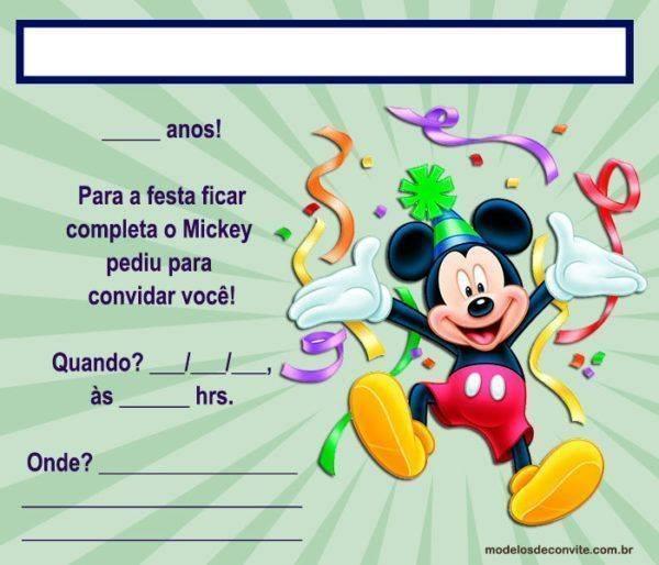 +40 Convites do Mickey Editáveis e Personalizados!