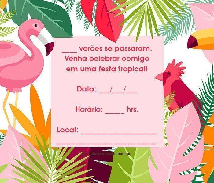 Convite De Aniversário Adulto 17 Modelos Ideais Modelos De Convite