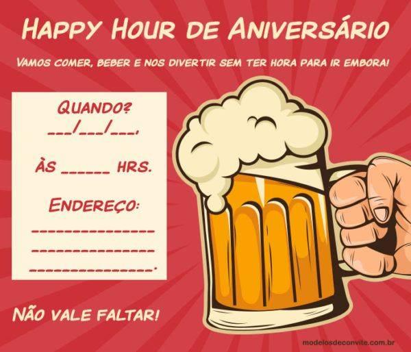 +20 Convites para Happy Hour de Aniversário