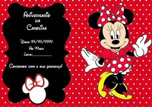 25 Convites Da Minnie Vermelha Tradicionais Modelos De Convite