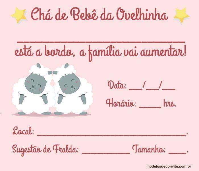 20 Convites Da Ovelhinha Para Chá De Bebê E Aniversário Modelos