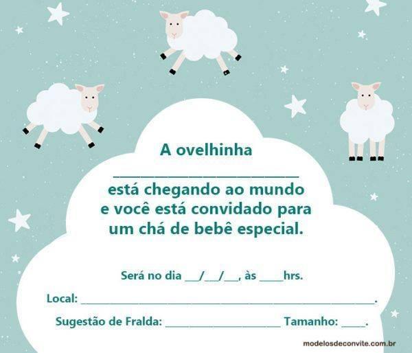 +20 Convites da Ovelhinha para Chá de Bebê e Aniversário!