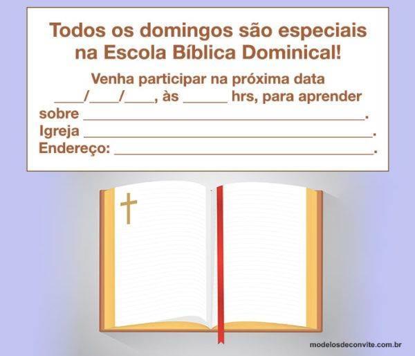 Convite para Escolinha Dominical: Modelos para Editar e Imprimir!