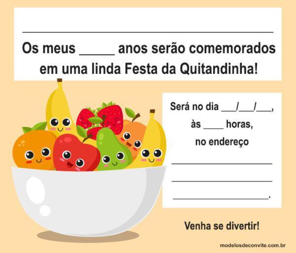 Convites Quitandinha para Imprimir e se Inspirar!