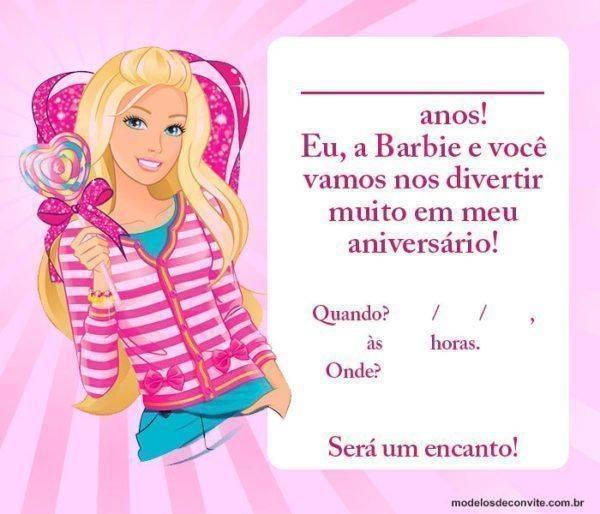 42 Convites da Barbie com a boneca mais famosa do mundo!
